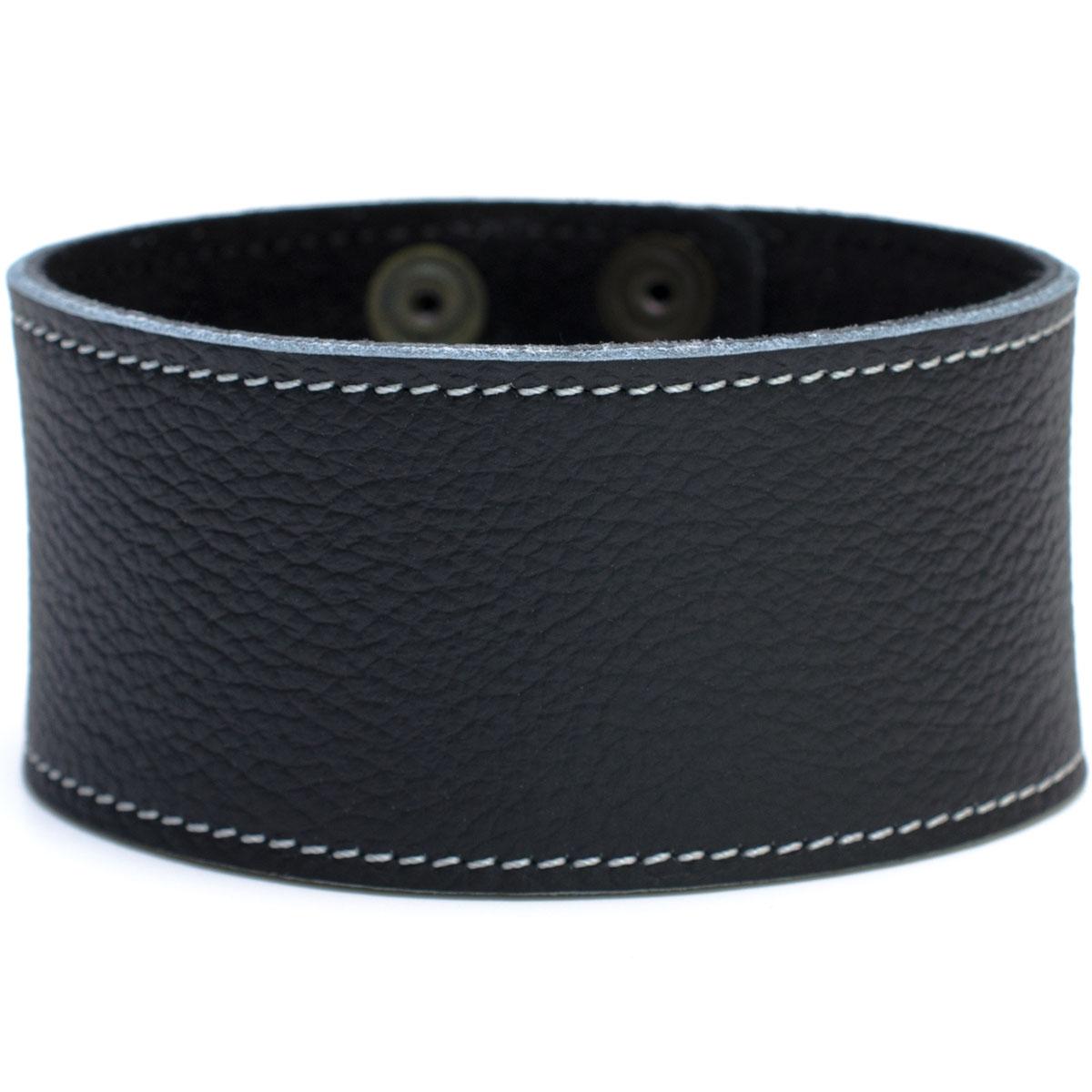 Lederarmband damen schwarz  Lederarmband Damen breit echt Leder Armband Regular